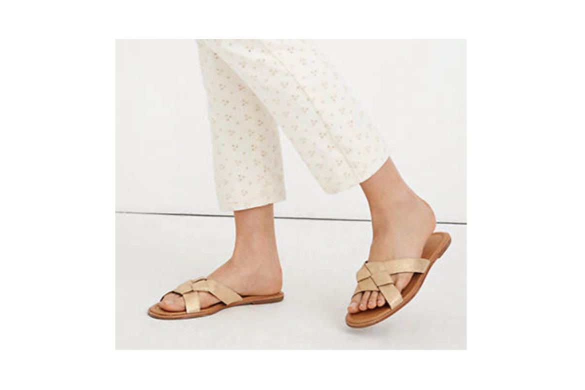 Gold Slide Sandal on Sale from Madewell